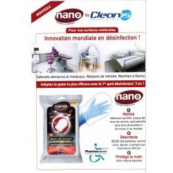 Gants nettoyant et désinfectant  Nano
