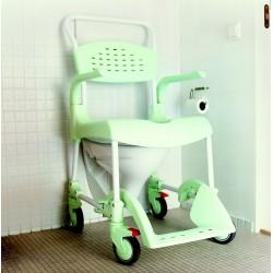 Chaise de douche à roulettes Clean