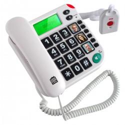 Téléphone avec télécommande SOS